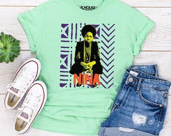 Nina Simone T-Shirt, Icon, Singer, DTG Tee, Printed Tee, Screen Printed Tee