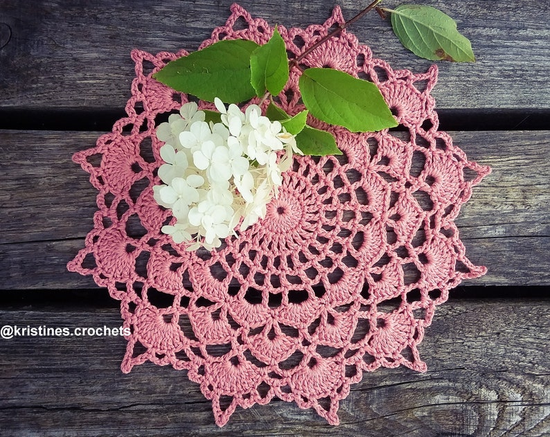 CROCHET PATTERN  Charming Shells Doily Written Pattern PDF image 0