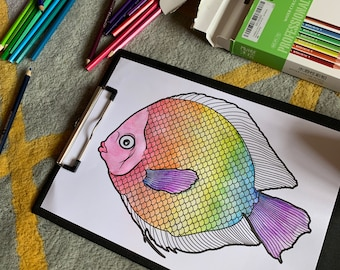 14 x Printable Underwater Colouring In Creatures. Ideal Kids Isolation Activity