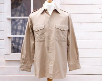 Vintage Military Long Sleeved Shirt Size - Large