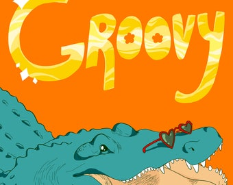 Groovy Gator (print)