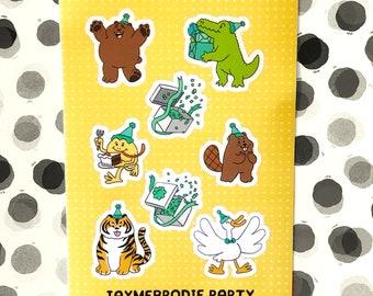 Party Animal Sticker Sheet
