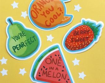 Fruit Pun Sticker Set