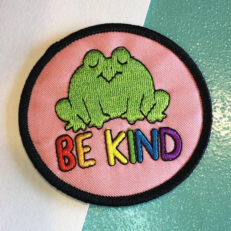 Be Kind Frog Patch image 0