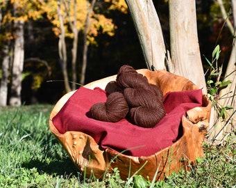 Nutmeg's Rich Mahogany Alpaca Yarn