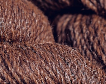 Starburst's Dark Brown Worsted wt Alpaca Yarn