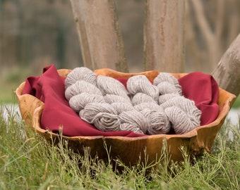 Rose's Lovely Rose Gray Alpaca Yarn