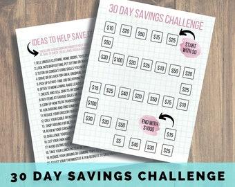 Savings Challenge Printable, Emergency Fund, Savings Tracker, Savings Printable, Debt Free, Debt Snowball, Savings Goal, Debt Free
