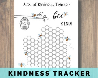Acts of Kindness Tracker, Be Kind, World Kindness Day, Random Acts of Kindness, Kindness for Kids Printable, Acts of Kindness, Kindness