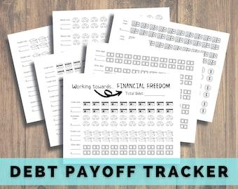 Debt Tracker Printable, Financial Freedom, Debt Free, Debt Snowball, Debt Payoff, Dave Ramsey, Baby Steps, 401K Loan, Student Loans, Medical