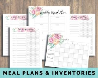 Weekly Meal Plan, Freezer Inventory, Pantry Inventory, Fridge Inventory, Meal Planning, Food Inventory, Printable Inventory, Meal Prep