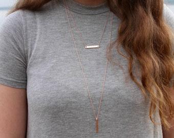 Custom Rose Gold Pendant Necklace