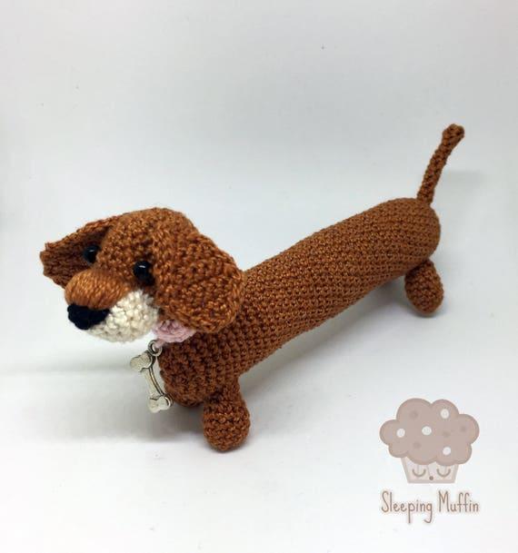 Perro salchicha amigurumi Teckel crochet Dachshund peluche | Etsy