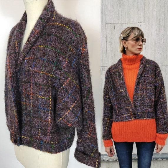1980's wool bomber, Vintage bomber jacket, Wool ja
