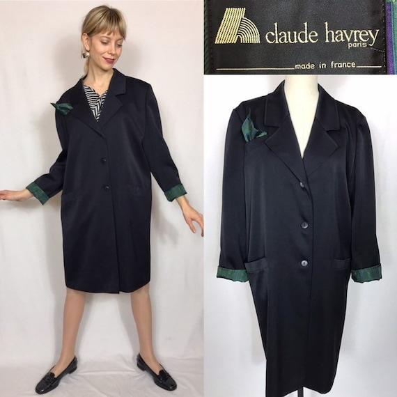 1980's Claude Hevrey Paris oversized blazer, Desig