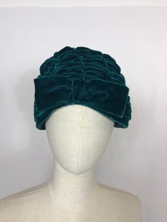 1950's turban, Velvet turban, Party hat, Wedding … - image 5