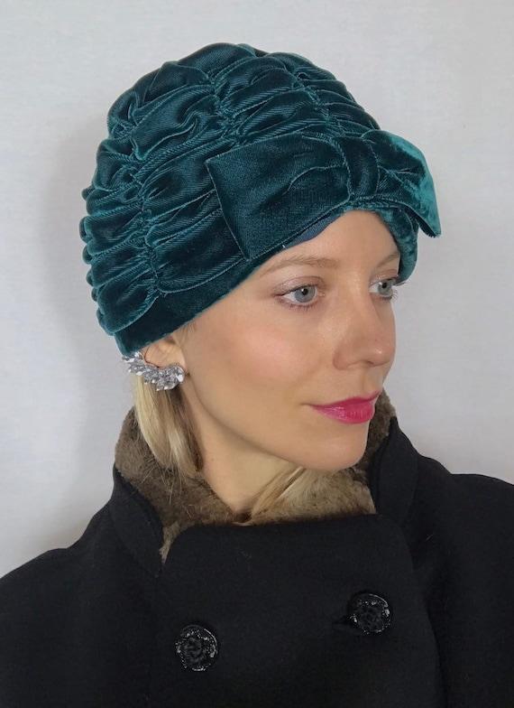 1950's turban, Velvet turban, Party hat, Wedding g