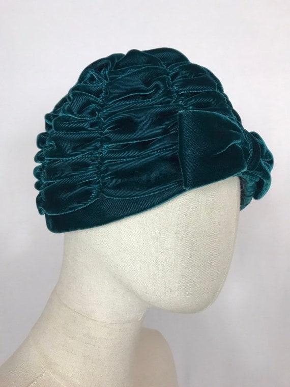 1950's turban, Velvet turban, Party hat, Wedding … - image 6