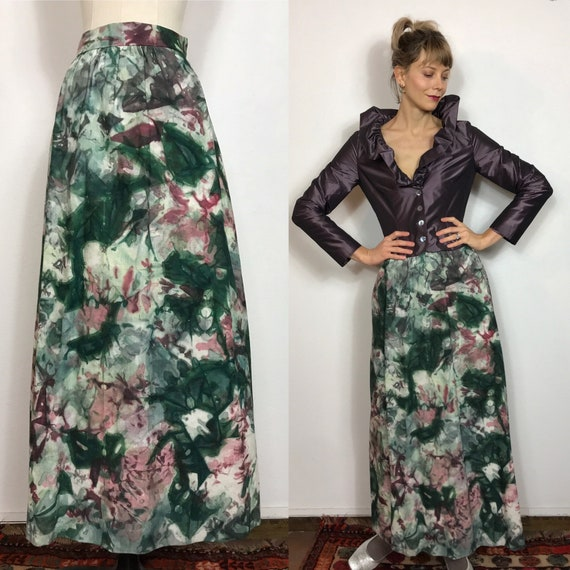 Fantastic 1970's tie dye long skirt, Vintage skirt