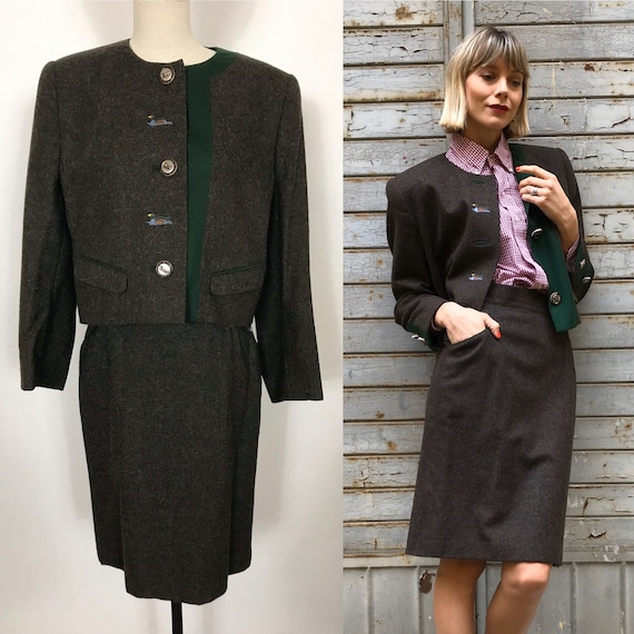 1990's Austrian wool suit, Autumn suit, Winter sui