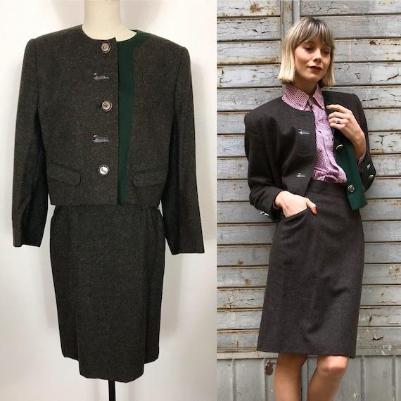 1990's Austrian wool suit, Autumn suit, Winter sui