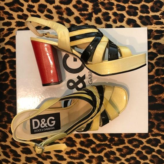Amazing Dolce & Gabbana platform sandals, Designer