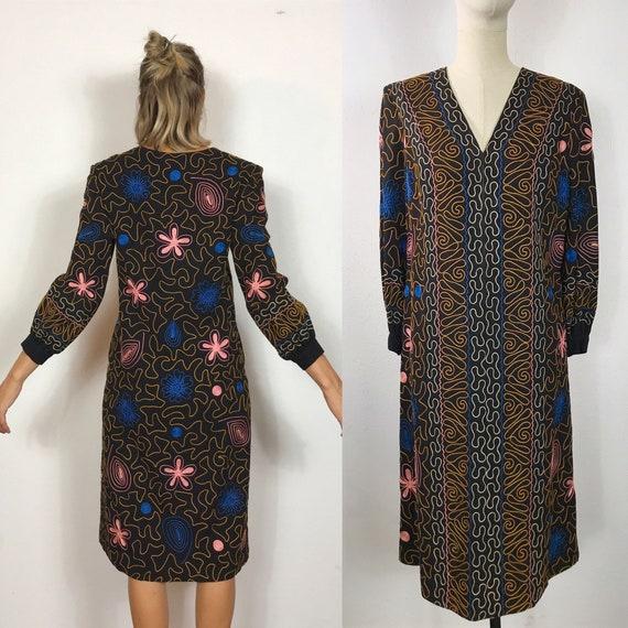 1960's caftan dress, Vintage dress, Hippie dress,