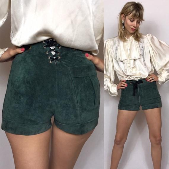 1960's mini suede shorts, Lederhosen, Vintage shor