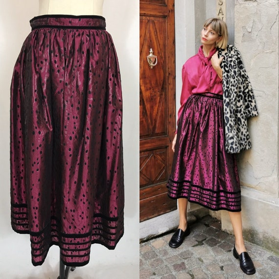 1980's Long Skirt, Wide skirt, Evening skirt, Gala