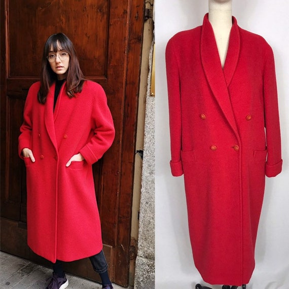 1990's long oversized double breasted coat, Vintag