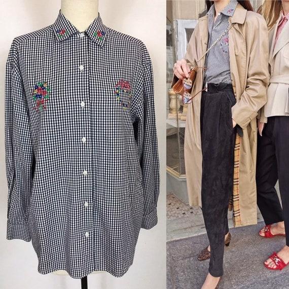 1980's Stefanel blouse, Designer blouse, Shepherd'