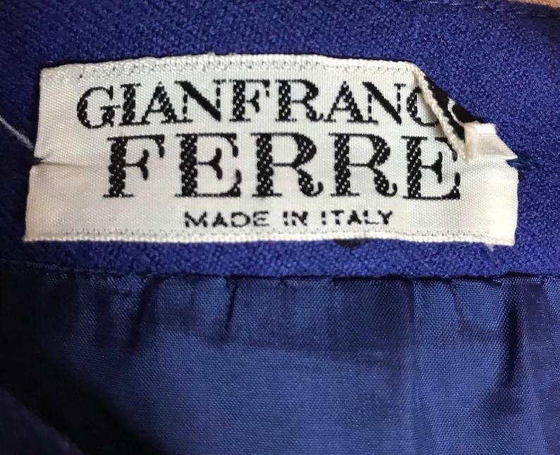 1980/'s FERRE skirt Designer vintage skirt Winter skirt Pencil skirt Gift for her. Secretary skirt Wrap skirt