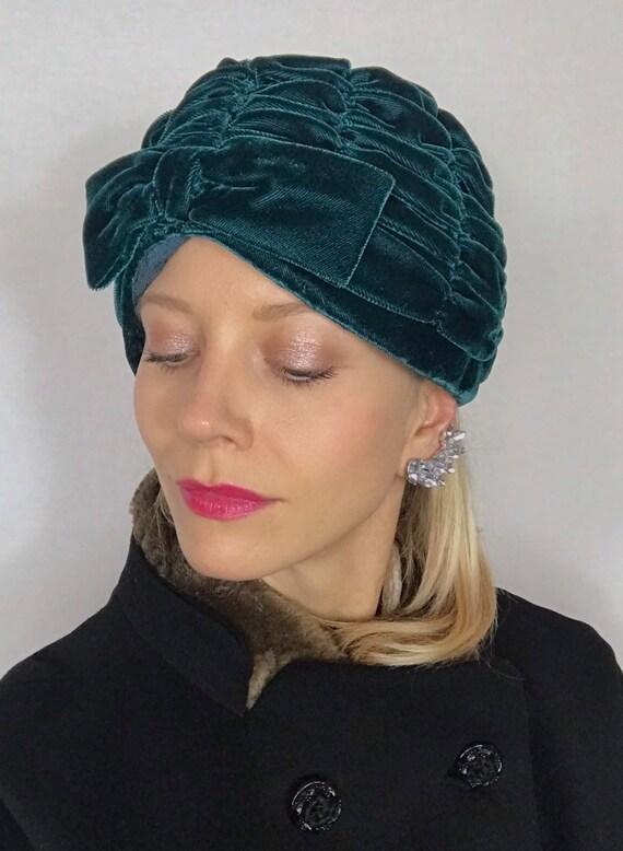 1950's turban, Velvet turban, Party hat, Wedding … - image 2