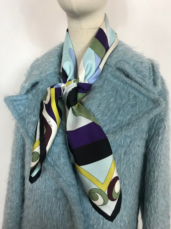 PUCCI scarf, Designer scarf, Silk scarf, Luxury sc