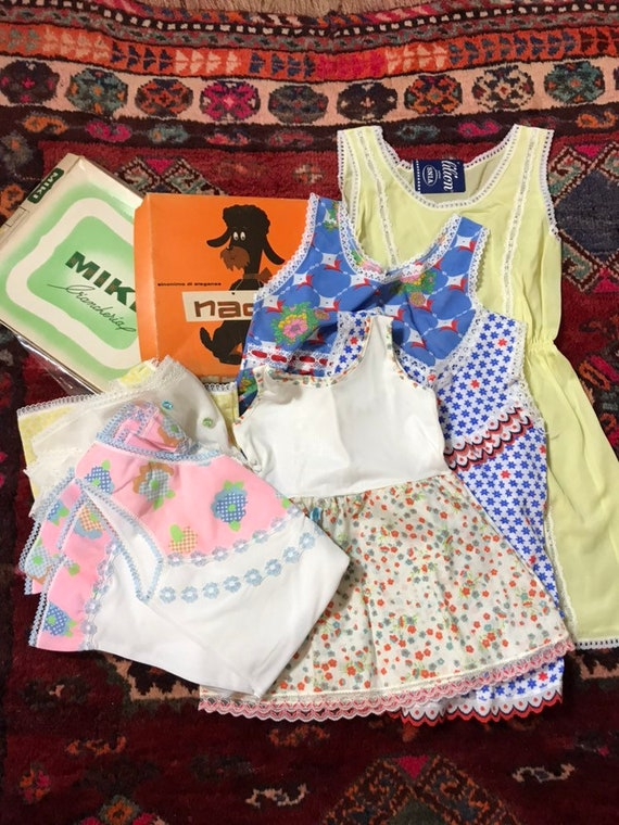 1960's dead-stock baby girl dresses age new born t