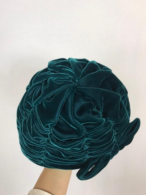1950's turban, Velvet turban, Party hat, Wedding … - image 7