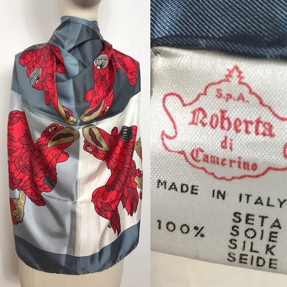 1980's Roberta di Camerino silk scarf, Vintage sca