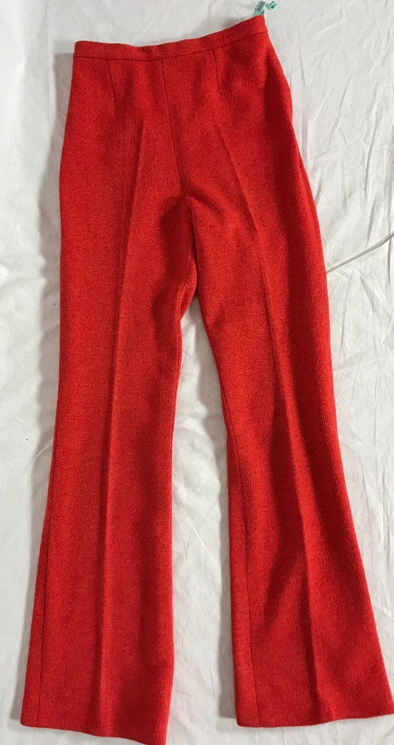 1970's wool suit, Flared pants and jacket, Orange… - image 7