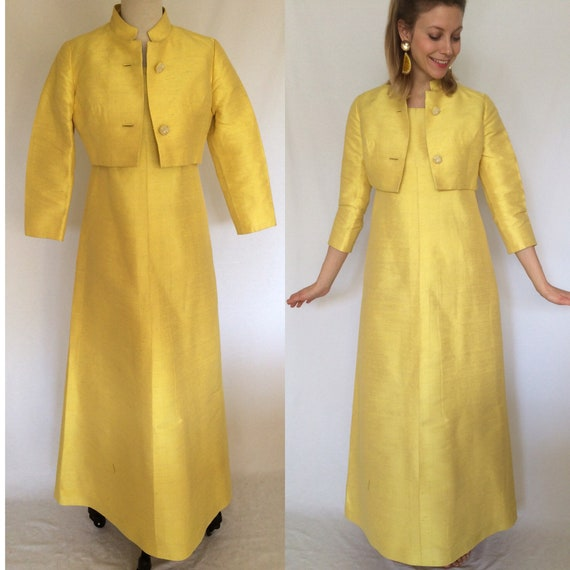 1960's party dress with jacket, Thai silk dress, C