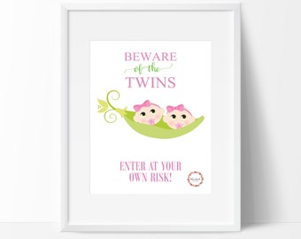 Beware of the Twins (Girls) Wall Print_0052WP