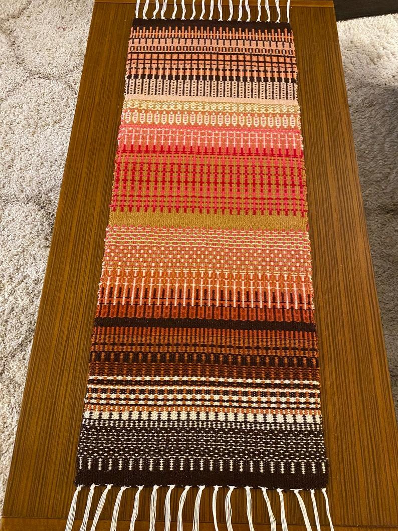 Hand woven table runner