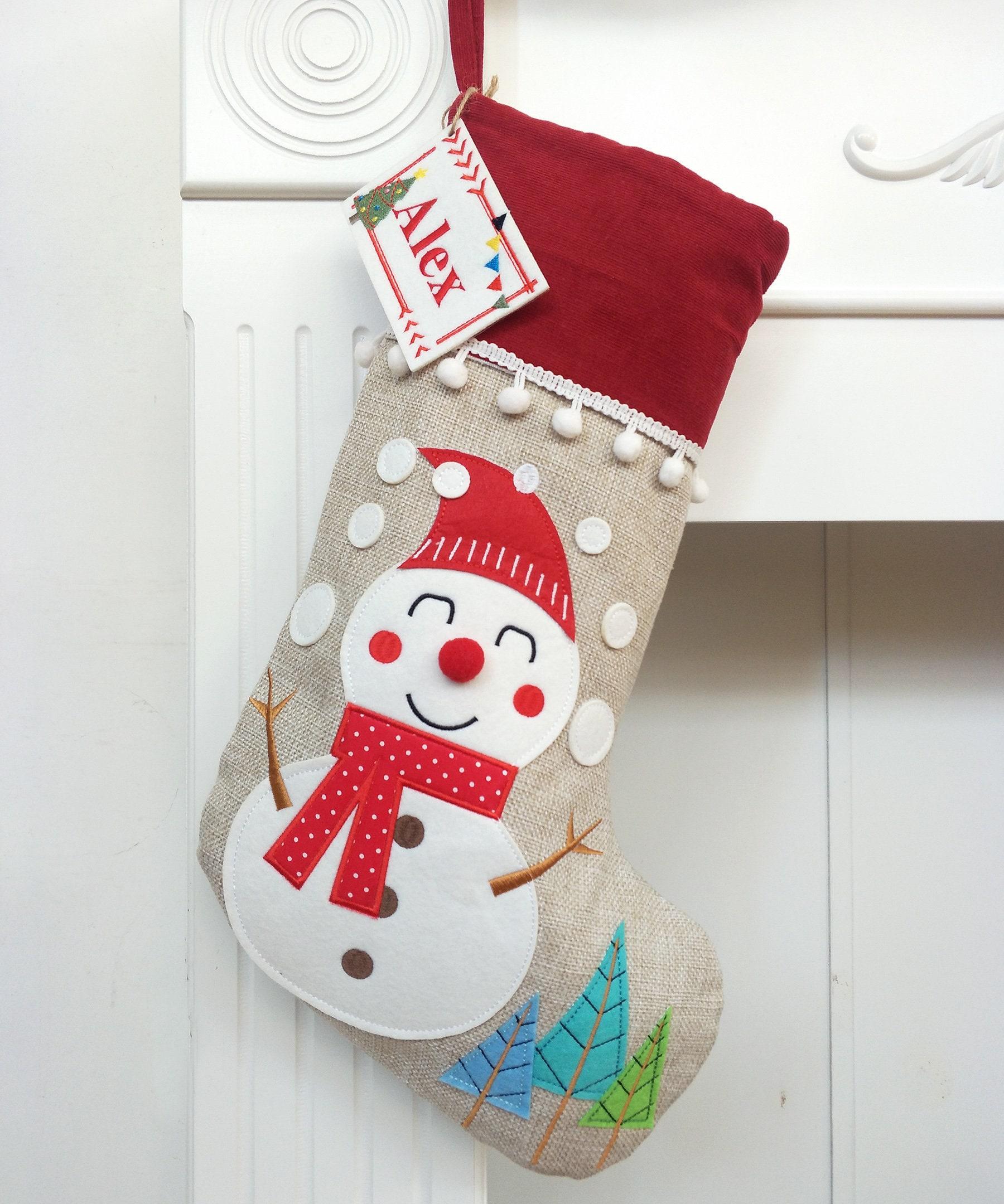 Personalized Christmas Stocking Burlap Christmas Stocking