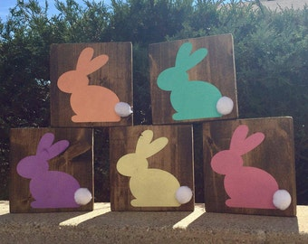 Small Easter Bunny Sign, Easter Sign, Spring Sign, Easter Bunny Sign, Easter Decor, Spring Decor