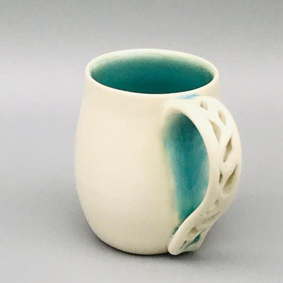 8oz. Matte & Glossy Mugs | Porcelain Mugs Handmade | Porcelain Cups | Handmade Ceramics | Housewarming Gift | Gift for Mom
