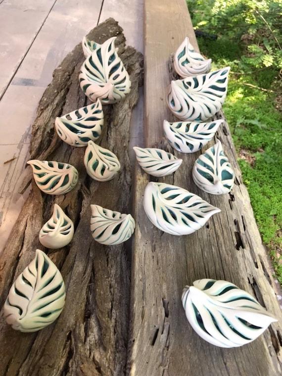 Porcelain Leaves Each