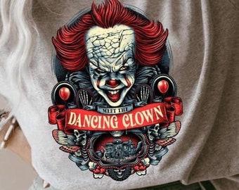 Creepy clown tee. Halloween t-shirt. Horror films. Fall shirt. Creepy movies. Unisex shirt. Relaxed fit tee. Goth. Penny