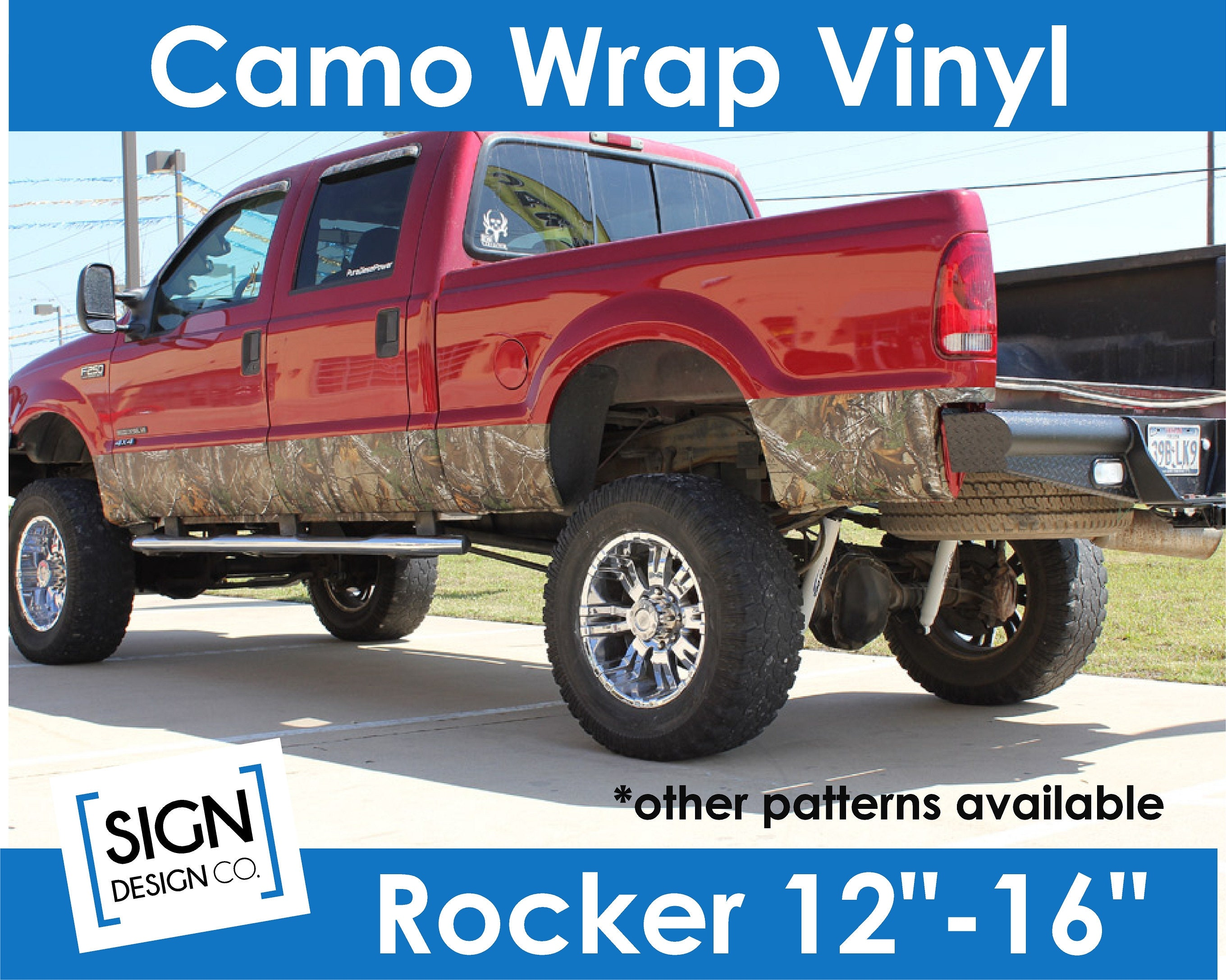 Camo Wrap TRUCK SUV Rocker Panel Kit Real Tree Mossy Oak Lifestyle  Camouflage decal sticker vinyl country hunting outdoor Roll sheet Muddy
