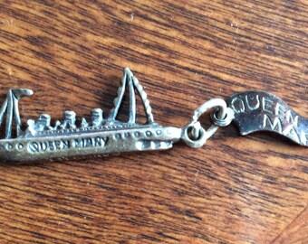 Vintage Sterling S.S Rotterdam Souvenir Ship Charm by Crea