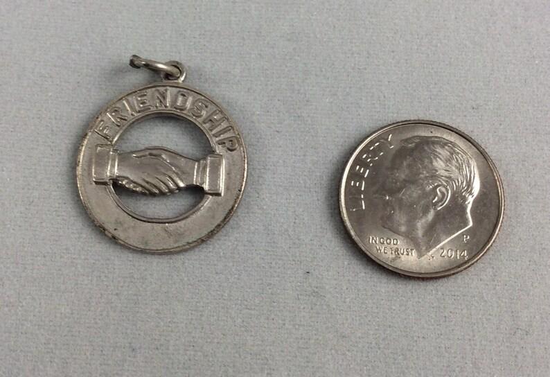 Vintage Sterling Silver Friendship Charm for your Bracelet or Pendant