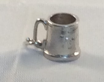 Vintage Sterling Silver Charm Tankard inscribed Happy Days for your Bracelet or Pendant